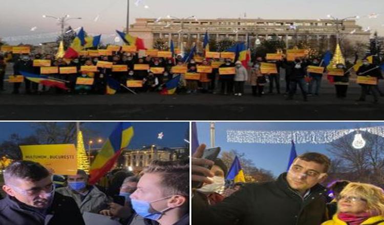 Manifestație 'AUR' – Reprezentanții partidului Dianei Șoșoacă au ieșit în fața Guvernului