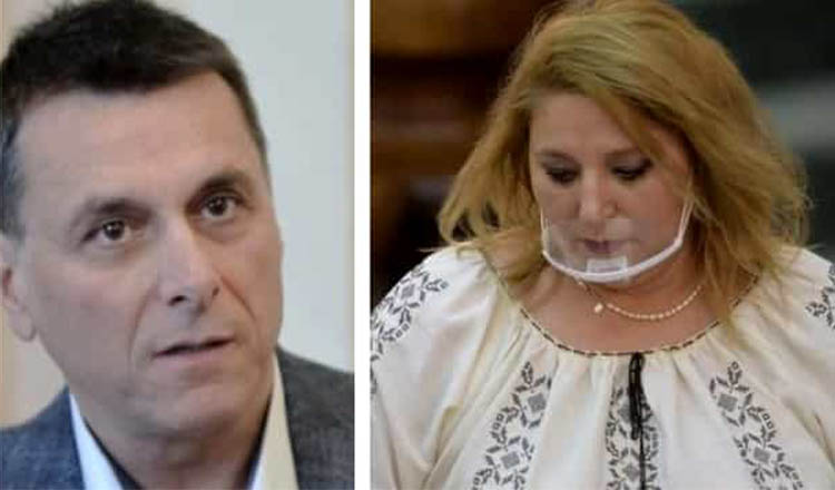 Scandal la înmormântarea lui Bogdan Stanoevici. Diana Șoșoacă a făcut declarații șocante