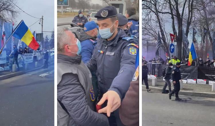 Scene FĂRĂ PRECEDENT – Jandarmii au săltat polițiștii și i-au dus la dube